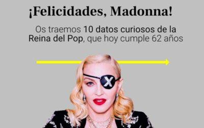 10 datos curiosos que no sabías de Madonna, que hoy cumple 62 años