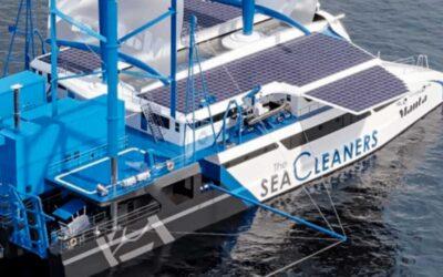 Manta, el catamarán que limpiará los océanos de basura plástica